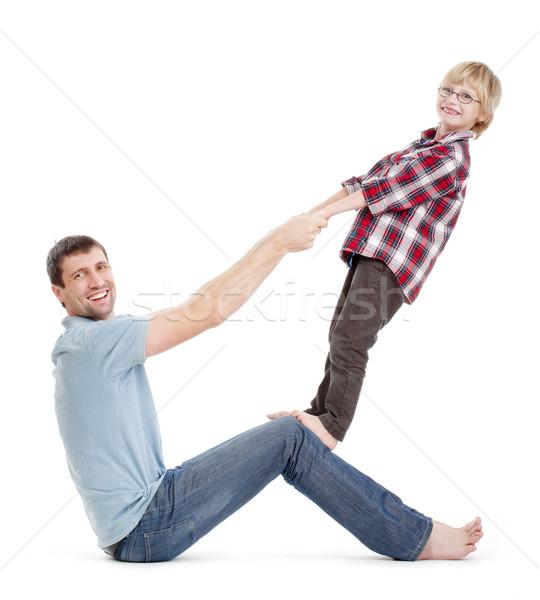 father and son having fun Stock photo © courtyardpix