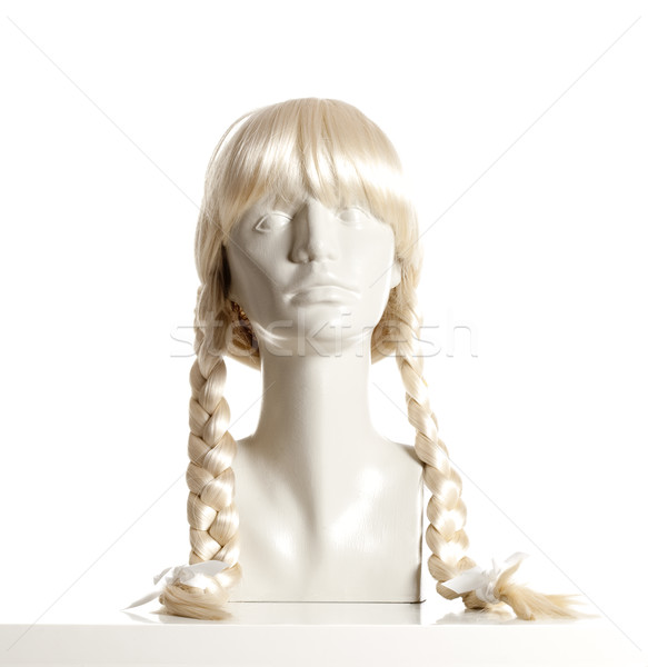 Próbababa női fej paróka fehér Stock fotó © courtyardpix