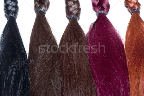 人工的な 髪 中古 生産 美 黒 ストックフォト © courtyardpix