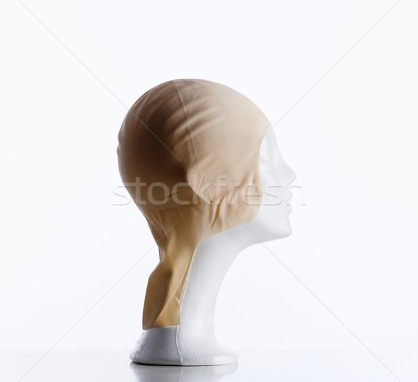 Stockfoto: Etalagepop · hoofdhuid · gedekt · plastic · kaal · hoofd