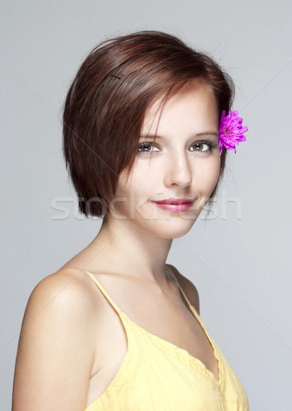 girl with hairdryer Stock photo © courtyardpix