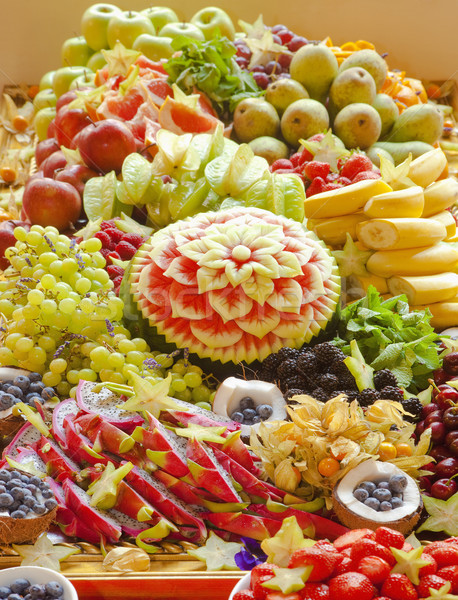 Assortiment fruits différent fruits fête pomme Photo stock © courtyardpix