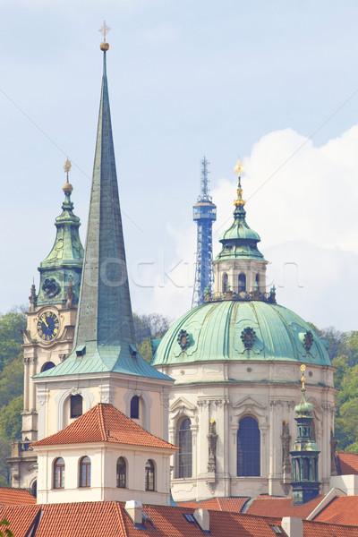 Czech Repunlic, Prague - Spires of Lesser Quarter and St. Nichol Stock photo © courtyardpix