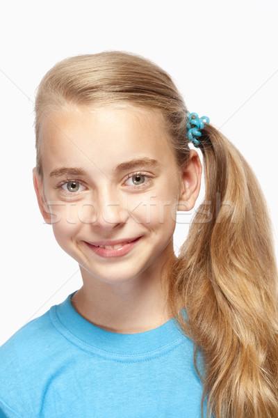 Portret piękna młoda dziewczyna długo blond włosy Zdjęcia stock © courtyardpix