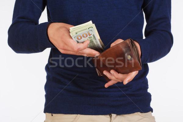 человека бумажник долларов фон Сток-фото © courtyardpix