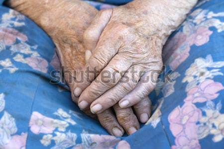 close of old womans hands Stock photo © courtyardpix