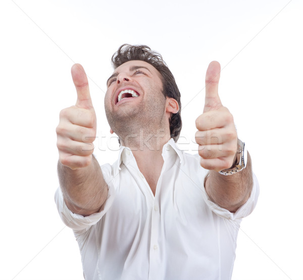 man showing both thumbs up Stock photo © courtyardpix