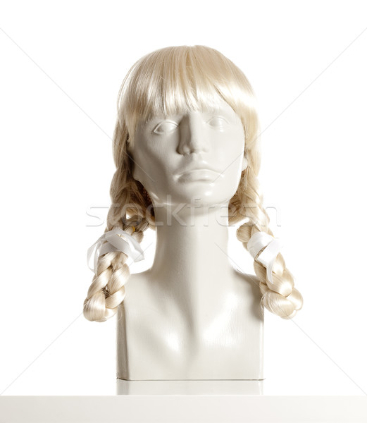 Photo stock: Mannequin · Homme · tête · perruque · blanche