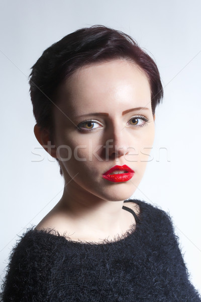 Young Woman with Brown Hair Stock photo © courtyardpix