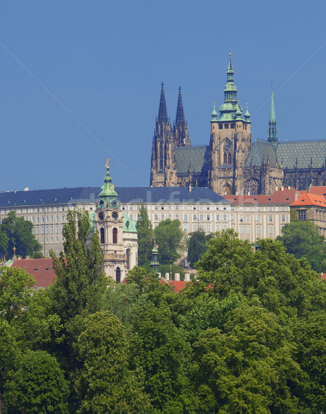 prague - hradcany castle Stock photo © courtyardpix