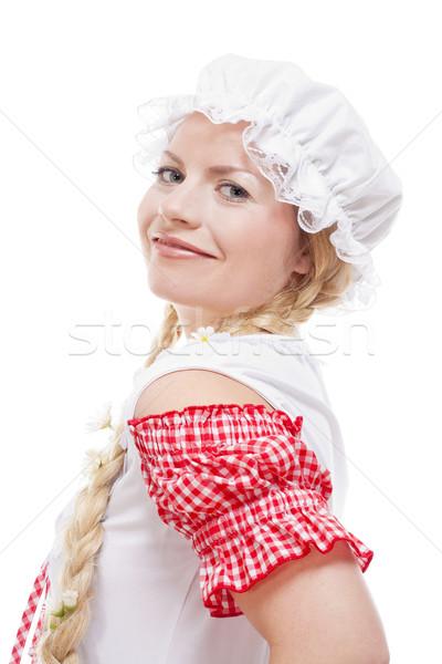 Retrato jóvenes chica de campo largo rubio Foto stock © courtyardpix