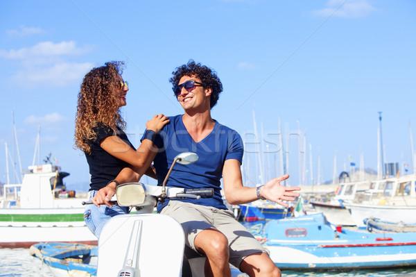 итальянский пару молодые женщину Сток-фото © courtyardpix