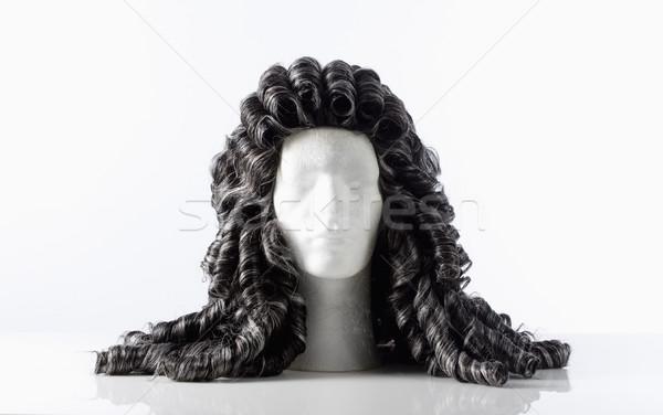 Manekin mężczyzna głowie peruka biały Zdjęcia stock © courtyardpix
