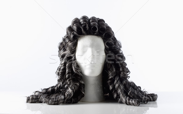 манекен мужчины голову парик белый Сток-фото © courtyardpix