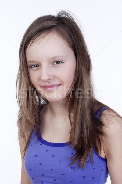 Portré lány stúdió csinos tizenegy évek Stock fotó © courtyardpix