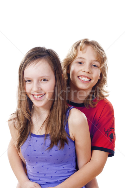 boy and girl smiling Stock photo © courtyardpix