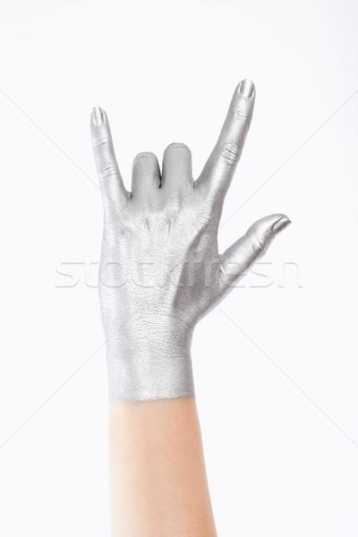 стороны серебро цвета фон Сток-фото © courtyardpix
