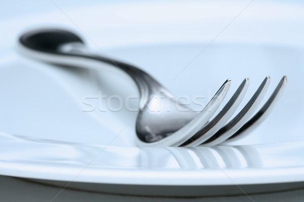 silverware - closeup of a fork Stock photo © courtyardpix