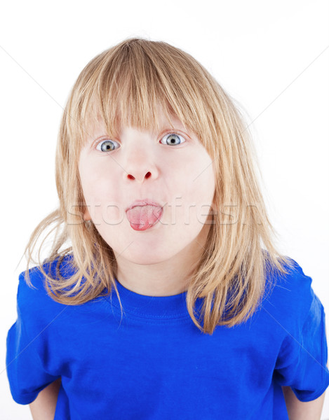 boy sticking out tongue Stock photo © courtyardpix