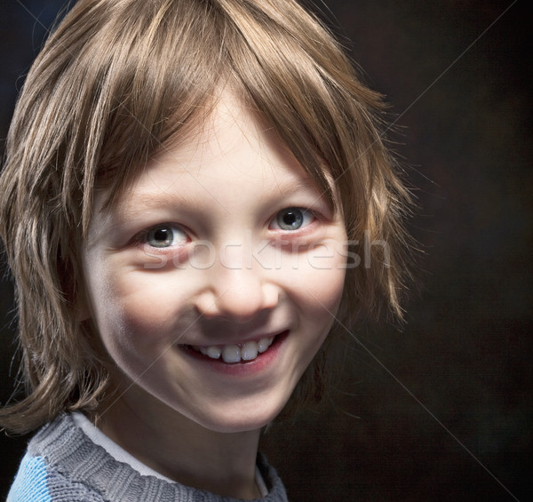 Boy with Blond Hair Smiling  Stock photo © courtyardpix