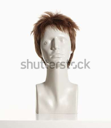 Manken kadın kafa peruk beyaz Stok fotoğraf © courtyardpix