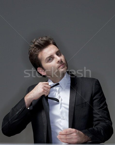 businessman loosening tie Stock photo © courtyardpix