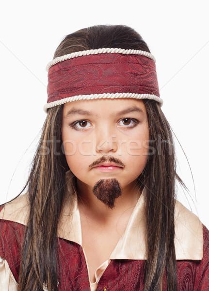 少年 かつら 海賊 衣装 肖像 ストックフォト © courtyardpix