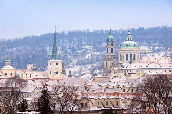 Stock photo: prague in winter