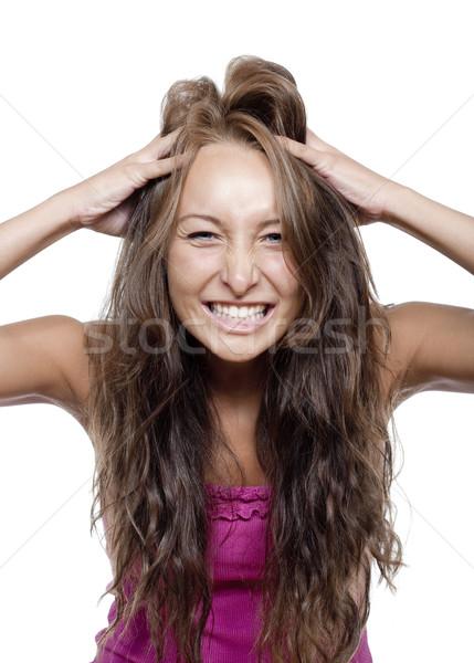 young girl making a face Stock photo © courtyardpix