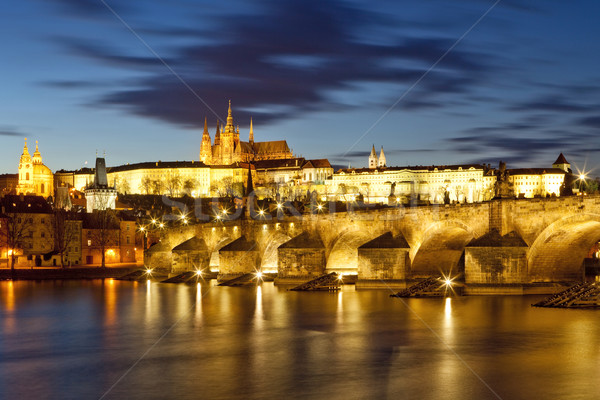 prague, charles bridge Stock photo © courtyardpix