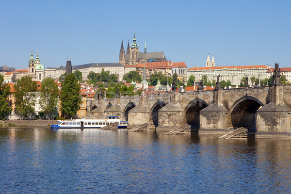 prague - charles bridge Stock photo © courtyardpix