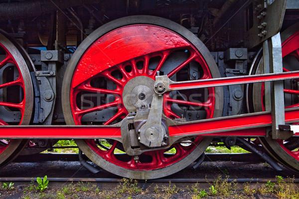 wheels of steam locomotive Stock photo © courtyardpix