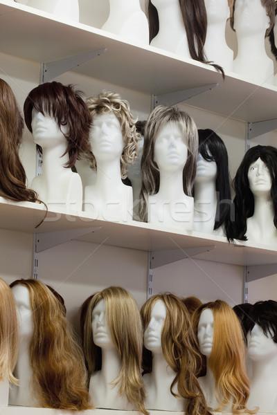 Csetepaté próbababa terv szépség fej stílus Stock fotó © courtyardpix