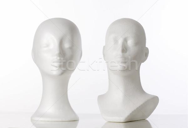 два манекен красоту голову белый стиль Сток-фото © courtyardpix