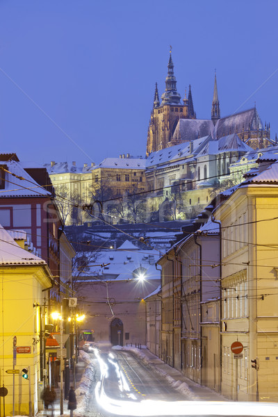 prague in winter Stock photo © courtyardpix