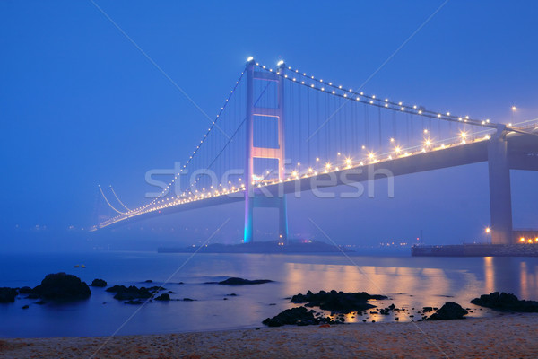 night scene of Tsing Ma bridge  Stock photo © cozyta