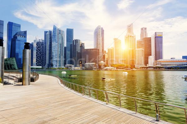 Singapore giorno costruzione città mare Foto d'archivio © cozyta