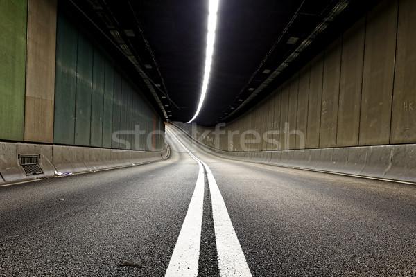 Stok fotoğraf: Iç · kentsel · tünel · trafik · Hong · Kong · modern