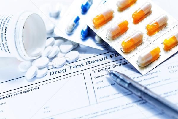 Drug test blank form Stock photo © cozyta