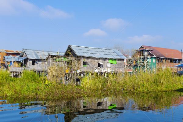Meer traditioneel dorp water huis Stockfoto © cozyta