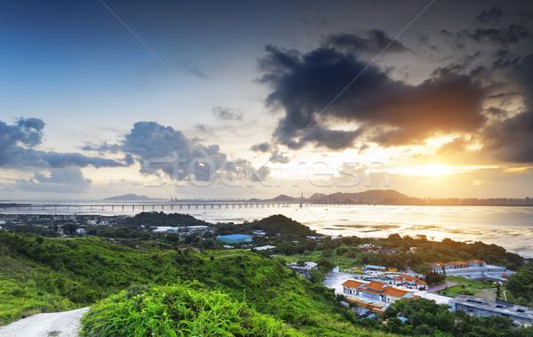 HongKong country sunset Stock photo © cozyta