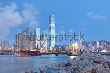 hong kong and breakwater Stock photo © cozyta