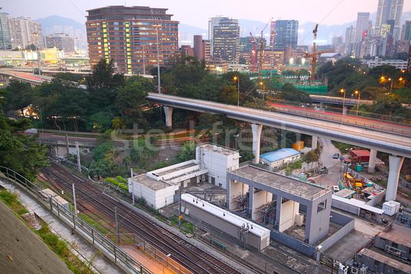 train rail in city Stock photo © cozyta