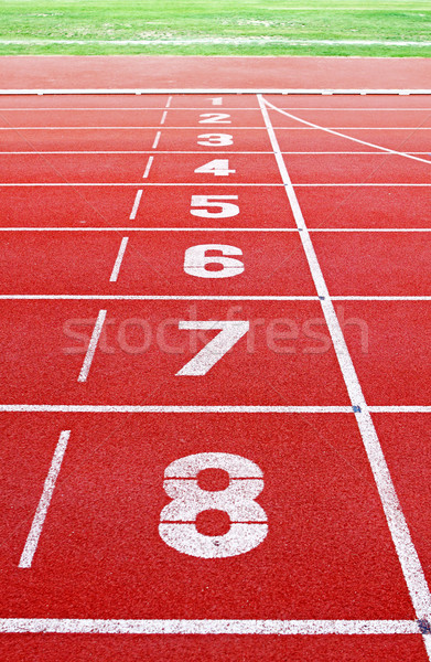 Starting lane of running track  Stock photo © cozyta