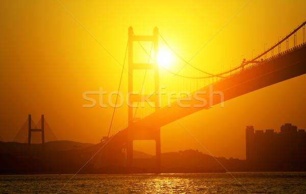 Sunset silhouette Bridge  Stock photo © cozyta