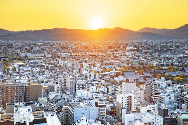 Sunset over Kyoto City in Japan.  Stock photo © cozyta