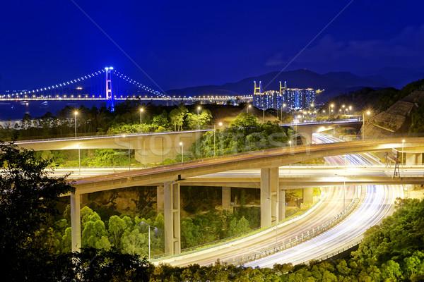 Highway traffic road Stock photo © cozyta
