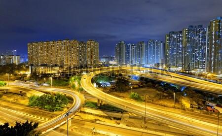 traffic in Hong Kong at night  Stock photo © cozyta