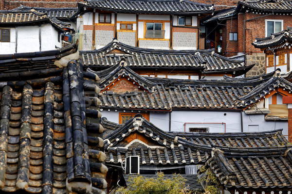 Korean traditional house building  Stock photo © cozyta