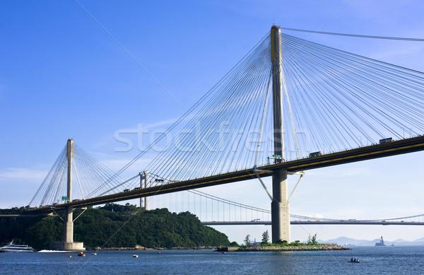 Ting Kau Bridge in Hong Kong  Stock photo © cozyta